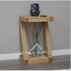 Z Oak Designer Small Console Table
